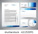 business stationery template... | Shutterstock .eps vector #61152091