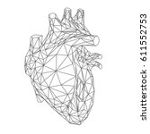 human heart illustration ... | Shutterstock .eps vector #611552753