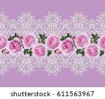 seamless pattern border....   Shutterstock . vector #611563967