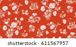 Stock vector seamless floral pattern in vector 611567957