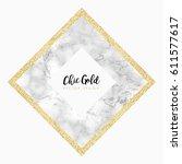 gold marble modern vector design | Shutterstock .eps vector #611577617