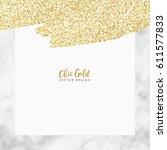 gold marble modern vector design | Shutterstock .eps vector #611577833