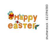 easter poster  | Shutterstock . vector #611596583