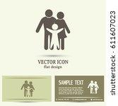 business cards design. happy... | Shutterstock .eps vector #611607023
