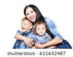 portrait of a happy young... | Shutterstock . vector #611632487