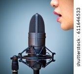 Asian Female Singer Mouth...