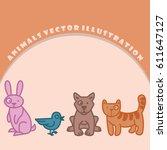 animals illustration set. image ...   Shutterstock .eps vector #611647127
