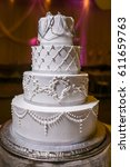 wedding cake | Shutterstock . vector #611659763