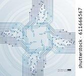 vector circuit board... | Shutterstock .eps vector #611666567