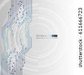 vector circuit board... | Shutterstock .eps vector #611666723