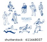 office people collection. set... | Shutterstock .eps vector #611668037