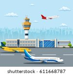 Airport Building And Airplanes...