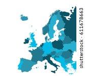 europe map   Shutterstock .eps vector #611678663