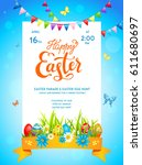 bright easter template | Shutterstock .eps vector #611680697