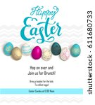 easter holiday template | Shutterstock .eps vector #611680733