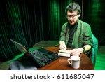 creative person  writer ... | Shutterstock . vector #611685047