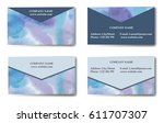 business card with templates... | Shutterstock .eps vector #611707307