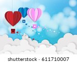 illustration of love and... | Shutterstock .eps vector #611710007