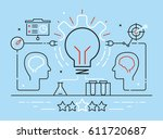 vector linear concept related... | Shutterstock .eps vector #611720687