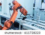industrial machine and factory... | Shutterstock . vector #611728223