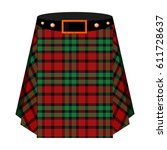 scottish tartan kilt.the men's... | Shutterstock . vector #611728637