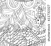 tracery seamless pattern.... | Shutterstock .eps vector #611732327