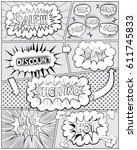 comics page sales .comic book...   Shutterstock .eps vector #611745833
