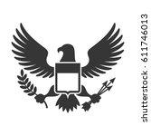 american presidential symbol.... | Shutterstock .eps vector #611746013