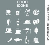 food icon set. vector concept... | Shutterstock .eps vector #611764013