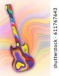 abstract guitar  3d illustration | Shutterstock . vector #611767643