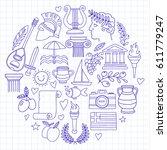 ancient greece vector elements...   Shutterstock .eps vector #611779247