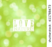 vector fresh blue love nature... | Shutterstock .eps vector #611788673