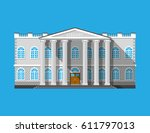 library building. book house... | Shutterstock .eps vector #611797013