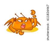 vector cartoon illustration ... | Shutterstock .eps vector #611826467