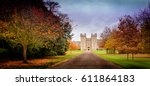 november fall castle  | Shutterstock . vector #611864183
