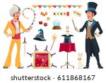 magic elements collection with... | Shutterstock .eps vector #611868167