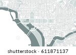 vector map of the city of... | Shutterstock .eps vector #611871137