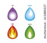 4 elements set. vector four...   Shutterstock .eps vector #611880227