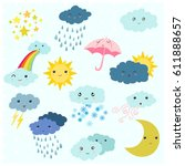 Adorable Cartoon Weather...