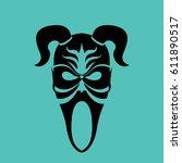 tribal mask design  abstract art | Shutterstock .eps vector #611890517