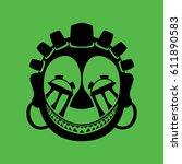 tribal mask design  abstract art | Shutterstock .eps vector #611890583