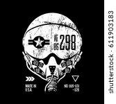 modern air force grunge effect... | Shutterstock .eps vector #611903183