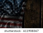 usa flag on a wood surface   Shutterstock . vector #611908367
