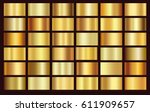 gold foil texture background... | Shutterstock .eps vector #611909657
