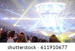 crowd of people in a stadium... | Shutterstock . vector #611910677