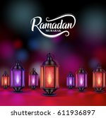 ramadan mubarak greetings... | Shutterstock .eps vector #611936897