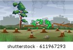 polution theme with... | Shutterstock .eps vector #611967293