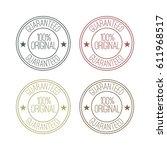 set of original label stamp.... | Shutterstock .eps vector #611968517