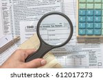usa tax day concept with tax...   Shutterstock . vector #612017273