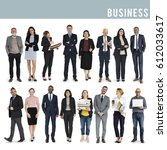 diversity men set gesture... | Shutterstock . vector #612033617
